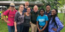 Maryland Governor Larry Hogan greets Frederick Adventist Academy students and staff
