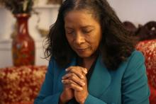 Violet Cox, AWC's prayer coordinator, participates in the conference's 18-hour Prayer-A-Thon.