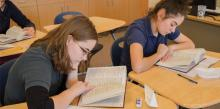 Spencerville Adventist Academy students study during Religion Class. Photo by Kelly Coe