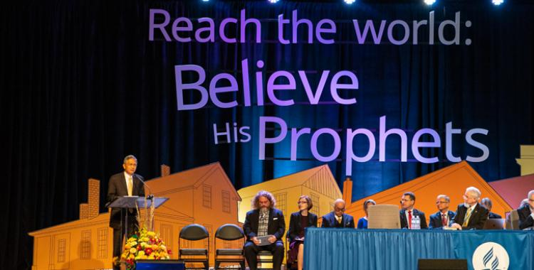 GT Ng, Secretary of the General Conference of the Seventh-day Adventist Church, gives the 2018 Secretariat Report to the delegates of the 2018 General Conference Annual Council, held October 11-17, 2018 in Battle Creek, MI. ©2018 North American Division/Dan Weber