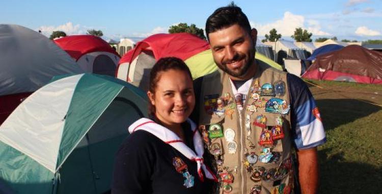 Maricris España and Irvin Josue Jacinto Miranda got engaged during 2019 International Pathfinder Camporee. Photo by V. Michelle Bernard for the Visitor