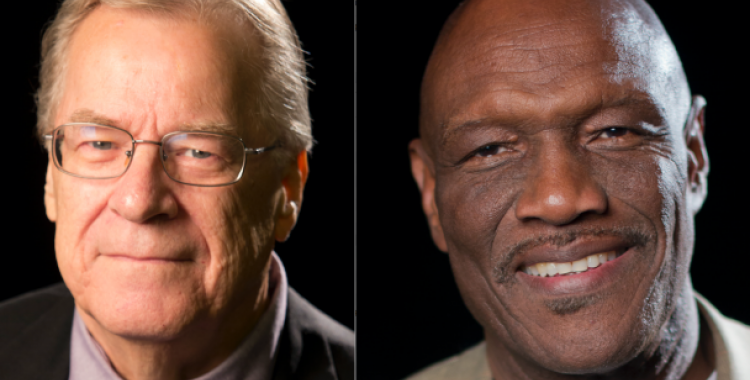 The Potomac Conference recognizes pastors Darry Campbell (left) and Don McFarlane (right).