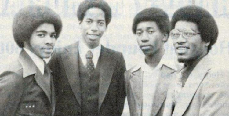 The late Fred Walters, with Mark Washington, Samuel Perry and John Jones. With their teacher, Charles Battles, all were wounded in the attack, but their injuries were not severe.