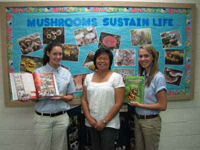 Ophelia Barizo, HVA science teacher, and students Chelsea McMullen and Molly Gavin, were all featured in an environmental science textbook.