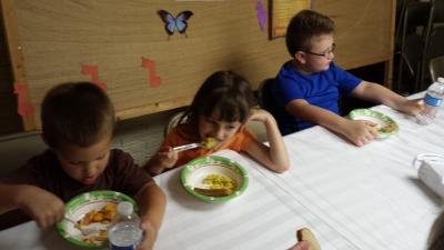 Participants taste the final product.